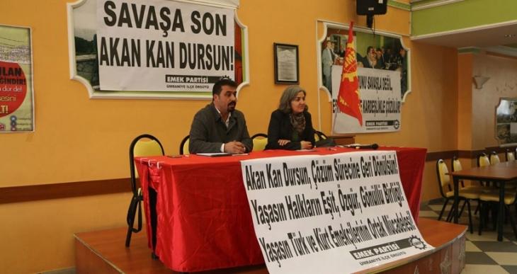 EMEP Genel Başkanı Selma Gürkan: Yeni katliamlara karşı harekete geçmeliyiz