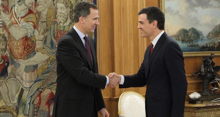 İspanya Kralı, hükümeti kurma görevini Pedro Sanchez'e verdi
