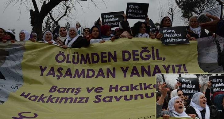 'Ölümden değil yaşamdan yanayız' diyen kadınlar Diyarbakır'da