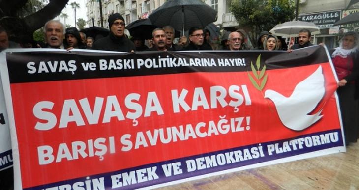 Mersin Emek Ve Demokrasi Platformu Barış Nöbetinde