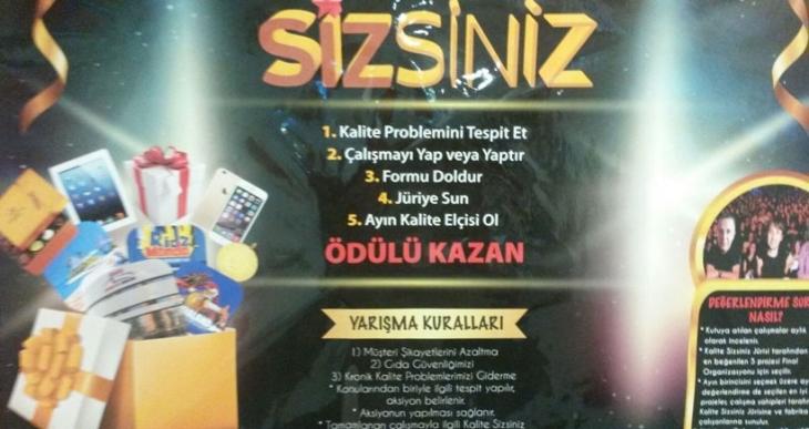Ülker fabrikasında 'kalite sizsiniz' yarışması: Kazanana tablet  yanında bel fıtığı