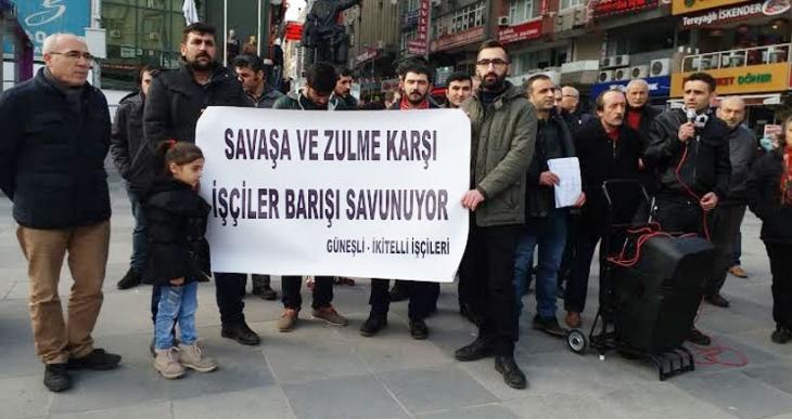 Güneşli ve İkitelli işçilerinden Barış Kampanyası: Bir yanımız öldürülüyorsa  bir araya gelemeyiz