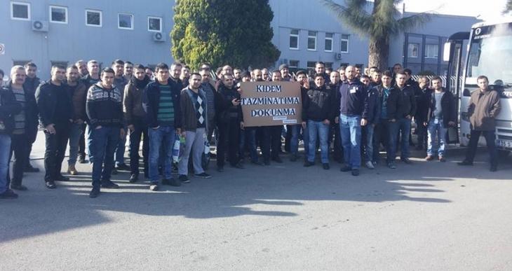 İşçilerden kıdem hakkı için mücadele çağrısı