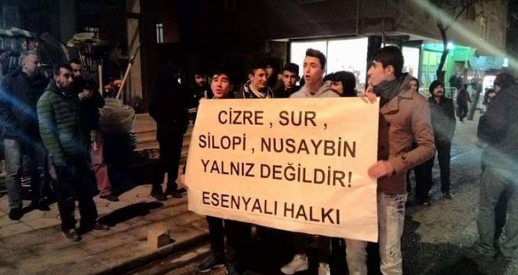 Pendik Esenyalı'da Cizre protestosunda gözaltı