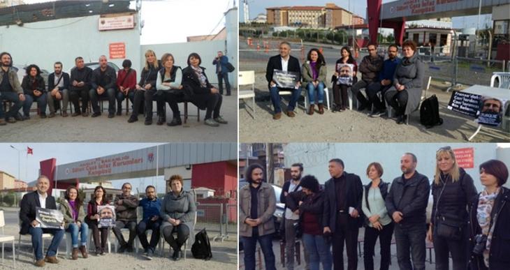 Haber Nöbeti'ndeki gazeteciler Silivri ve Diyarbakır cezaevleri önünde nöbet tuttu