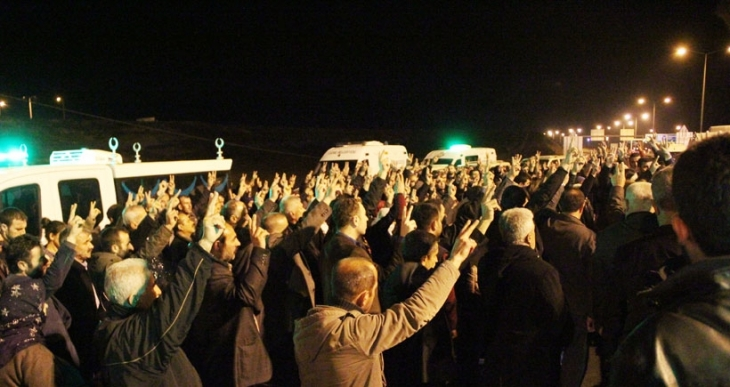 Cizre'den Antep'e getirilen 20 cenazeden teşhis edilen 10'u memleketlerine gönderildi