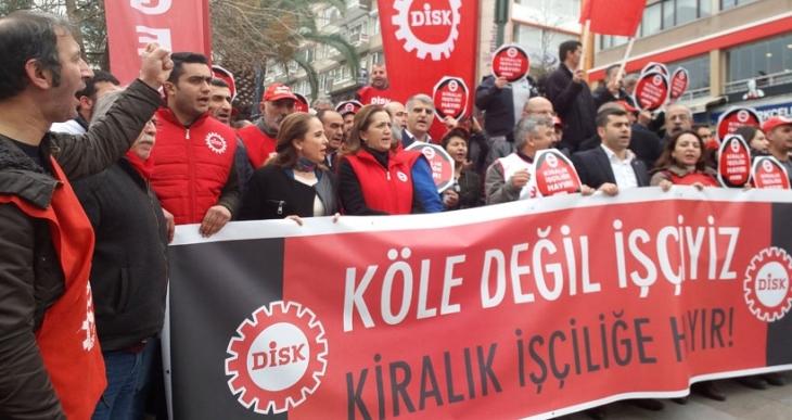 DİSK: İşçilere kölelik dayatan kaybedecek, biz kazanacağız