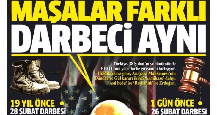 Yandaş gazeteler Dündar ve Gül'ün tahliyesine çok üzüldü
