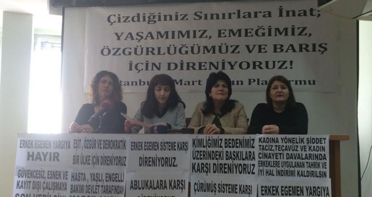 Kadıköy'deki 8 Mart yürüyüşüne çağrı: Emek, özgürlük ve  barış için alanlardayız