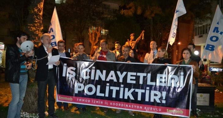 TMMOB İzmir İl Koordinasyon Kurulu: İş cinayetleri politiktir