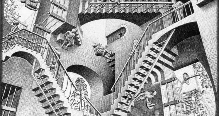 Platon'un mağarasından Escher'in tablosuna