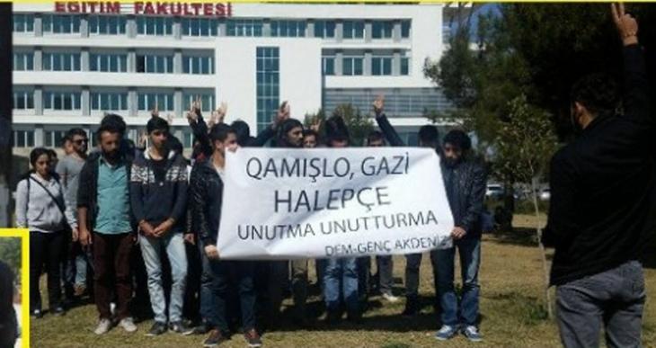 Akdeniz Üniversitesi'nde anmalara polis saldırısı, gözaltılar var