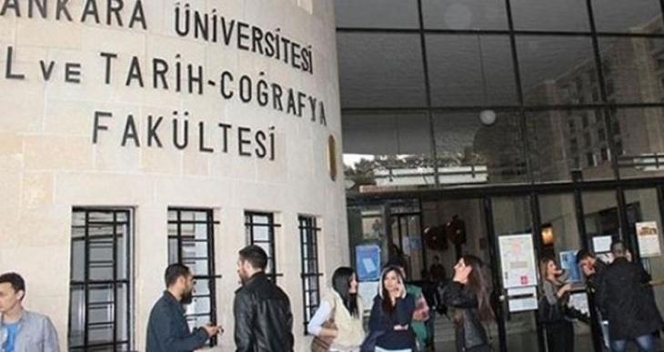 DTCF'de pankart asılınca iki öğrenci gözaltına alındı