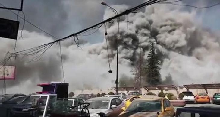 Musul'daki hava saldırısı kameraya yansıdı