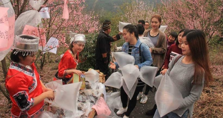 Çin'de köylüler şehirlilere 'temiz hava' satıyor