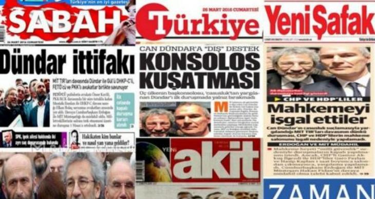 AKP'li gazeteler tutuksuz yargılamaya tepkili