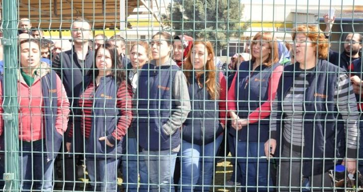 Eskişehir'de Cardin Concept fabrikasında atılan 9 işçi için eylem