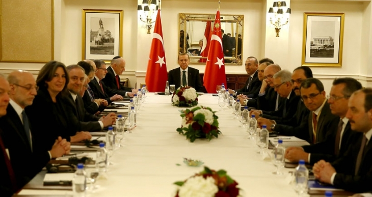 Erdoğan, ABD'de Musevi kuruluşlarının temsilcileriyle görüştü