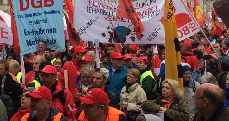 Almanya'da kiralık işçilik protestosu