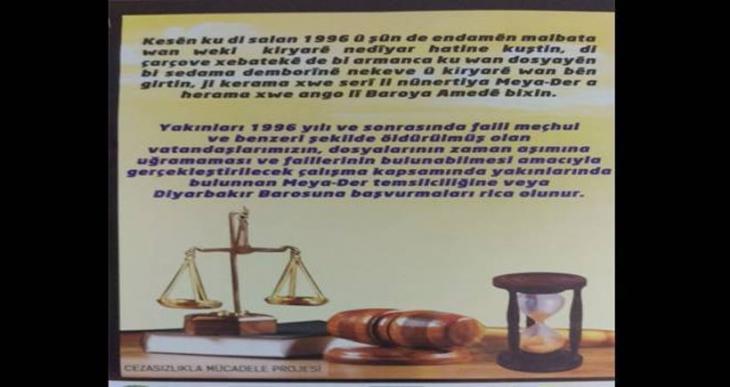 Diyarbakır Barosu cezasızlığa karşı harekete geçti