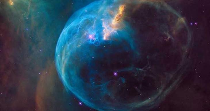 Hubble, yıldızlararası dev baloncuğu görüntüledi