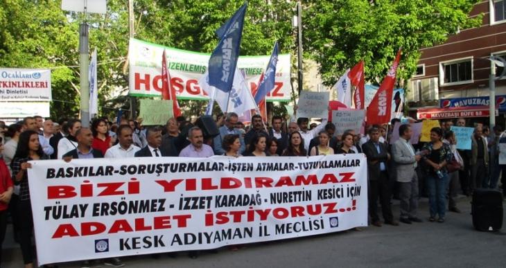 Adıyaman'da KESK üyelerine yönelik baskılar kınandı