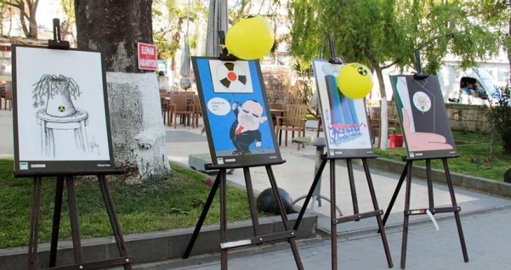 Sinop'ta nükleer karşıtı karikatür sergisi açıldı