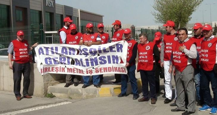 NSK Armatür işçileri: Birbirimizden güç alarak  1 Mayıs'a