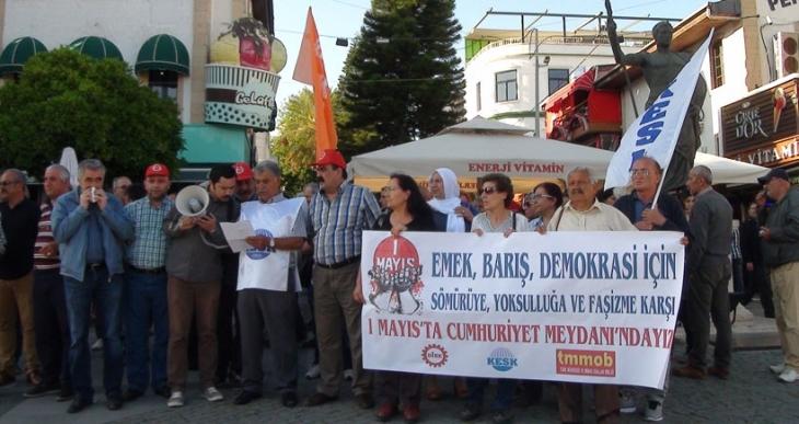 Antalya'da sendikalardan 1 Mayıs'a çağrı