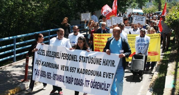 İstanbul Tıp Fakültesi'nde 1 Mayıs kutlandı