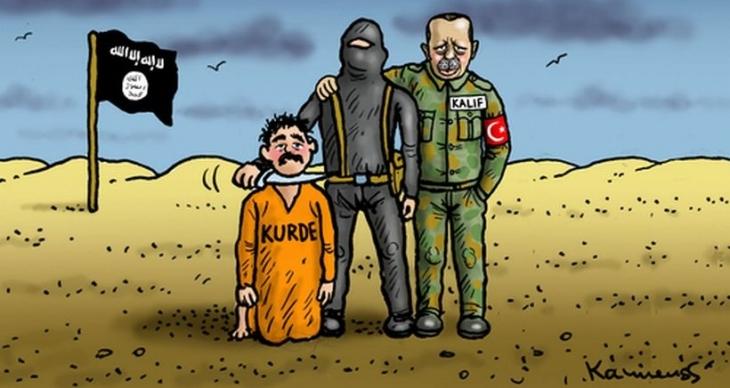 Alman karikatüristler Erdoğan'ı fena 'çizdi'