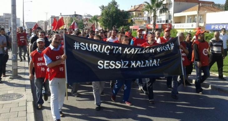 Çiğli Belediyesi işçileri, 'Katil IŞİD işbirlikçi AKP' sloganlarıyla yürüdü