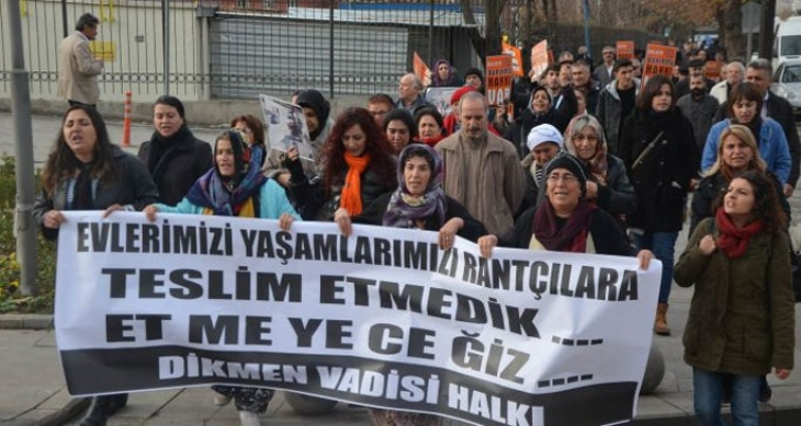 Dikmen Vadisi ihalesi protesto edildi