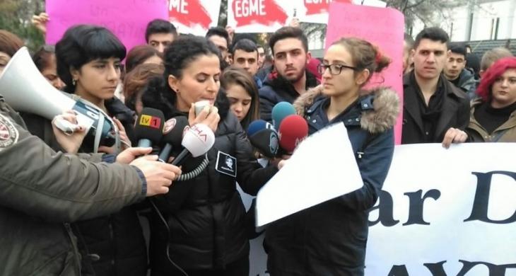 Arkadaşları ve kadın örgütleri Cansel Buse için eylem yaptı