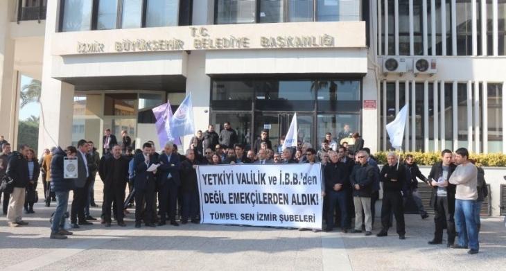 İzmir'de TİS, itirazlara rağmen Tüm Yerel-Sen'le imzalandı