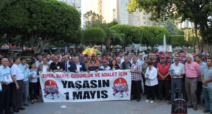 Adana'da 'Emeğin ortak talepleriyle 1 Mayıs'a' çağrısı