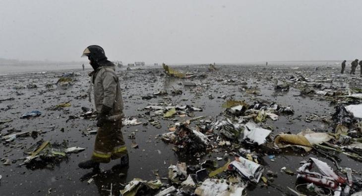 Rusya'da düşen uçağın enkaz çalışmaları tamamlandı