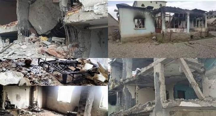 Yüksekova'daki yıkımın fotoğrafları