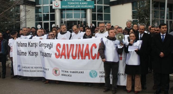 Sağlık meslek örgütleri: İktidar grev ve protesto hakkımıza saldırıyor