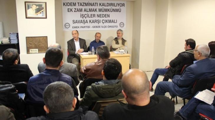 Gebze İşçi Komitesi oluşturuluyor: Hak gaspları ve savaşa karşı ortak mücadele