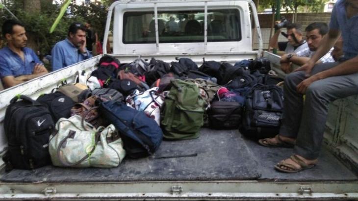 Suruç'taki gençlerin çantaları teslim alındı