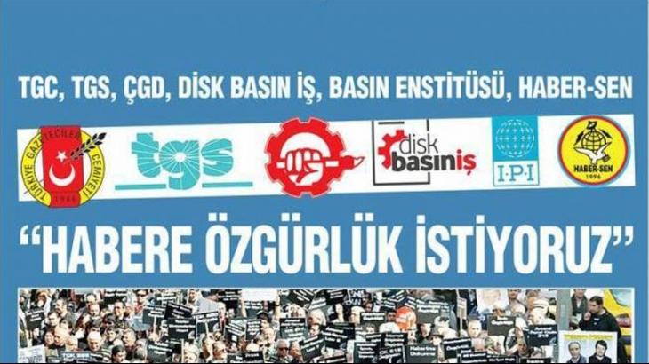Basın meslek örgütlerinden tutuklu gazeteciler için imza kampanyası