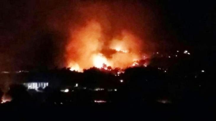 Orman yangınları Lice'ye sıçradı