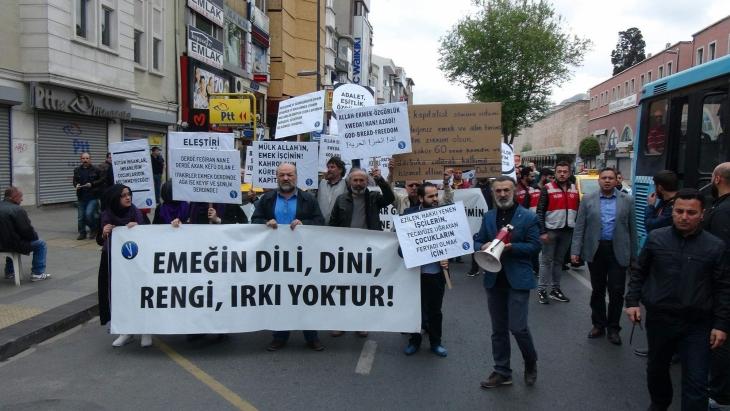 Antikapitalist Müslümanlar'dan 1 Mayıs eylemi