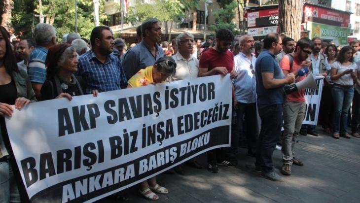 Ankara'da Barış Bloku açıklaması: 'Bunun adı faşizmdir'