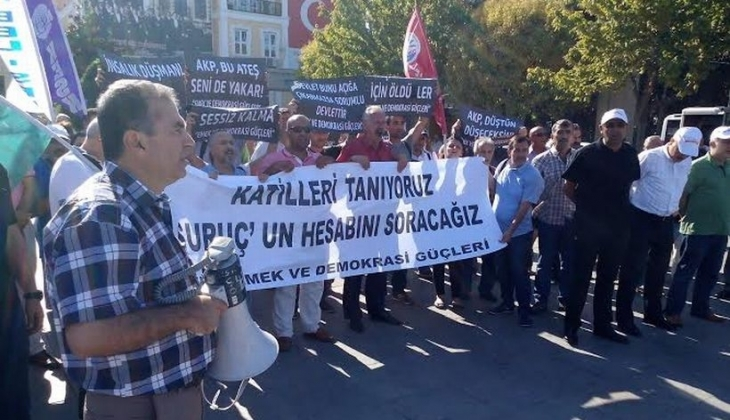 Bakırköy'de Suruç Katliamı'na ortak tepki
