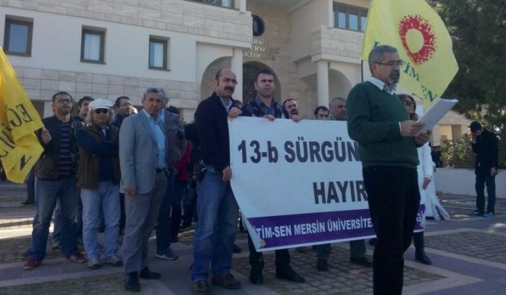Mersin Üniversitesi'nde sürgüne tepki