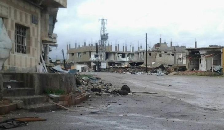 Suriye ordusu stratejik Şeyh Miskin kasabasını kontrolü altına aldı