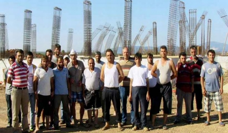 Didim'de inşaat işçileri mücadele etti, kazandı