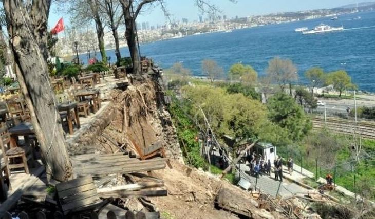 Gülhane Parkı'nda duvar çöktü: 2 ölü 5 yaralı